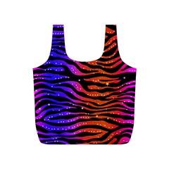 Rainbow Zebra  Reusable Bag (S)