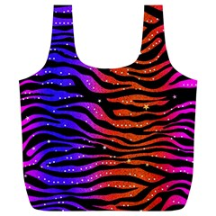 Rainbow Zebra  Reusable Bag (XL)