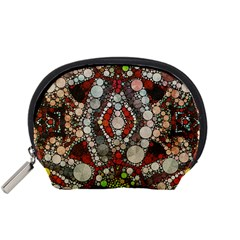 Crazy Abstract  Accessory Pouch (small)