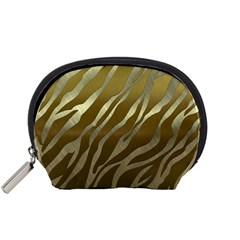 Metal Gold Zebra  Accessory Pouch (Small)