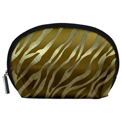 Metal Gold Zebra  Accessory Pouch (large)