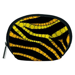 Yellow Bling Zebra  Accessory Pouch (Medium)