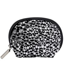 White Cheetah Bling Accessory Pouch (Small)