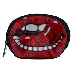 Yummy Red Lips Accessory Pouch (Medium)