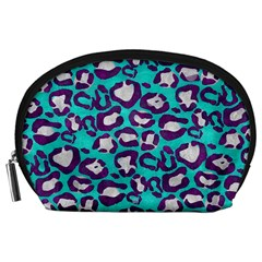 Turquoise Cheetah Accessory Pouch (Large)