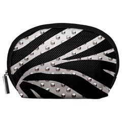 Metal Zebra  Accessory Pouch (large)
