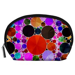 Bling Polka Dot Accessory Pouch (Large)