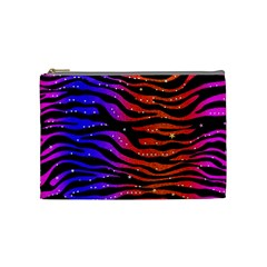 Rainbow Zebra  Cosmetic Bag (medium)