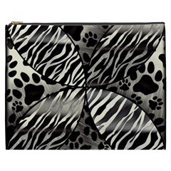 Crazy Animal Print  Cosmetic Bag (xxxl)