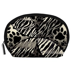 Crazy Animal Print  Accessory Pouch (Large)
