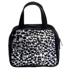 White Cheetah Bling Classic Handbag (two Sides)