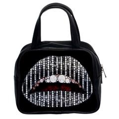 Sassy Bling Lips Classic Handbag (two Sides)