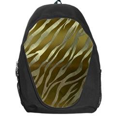 Metal Gold Zebra  Backpack Bag