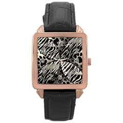 Crazy Animal Print  Rose Gold Leather Watch
