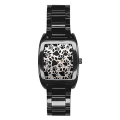 Paws On Me  Stainless Steel Barrel Watch