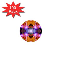 Abstract Flower 1  Mini Button (100 Pack)