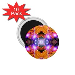 Abstract Flower 1 75  Button Magnet (10 Pack)