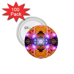 Abstract Flower 1 75  Button (100 Pack)