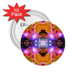 Abstract Flower 2 25  Button (10 Pack)