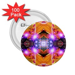Abstract Flower 2 25  Button (100 Pack)