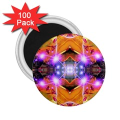 Abstract Flower 2 25  Button Magnet (100 Pack)