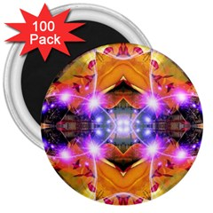 Abstract Flower 3  Button Magnet (100 Pack)