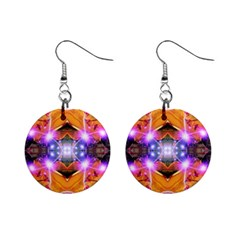 Abstract Flower Mini Button Earrings