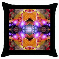 Abstract Flower Black Throw Pillow Case