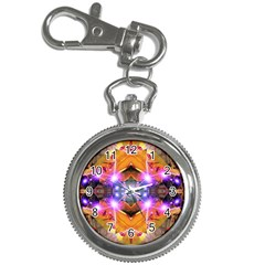 Abstract Flower Key Chain Watch