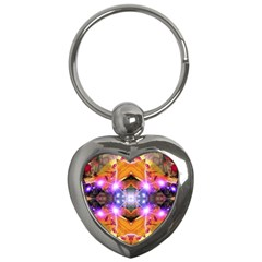Abstract Flower Key Chain (heart)