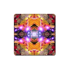 Abstract Flower Magnet (square)
