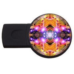Abstract Flower 2gb Usb Flash Drive (round)