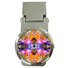 Abstract Flower Money Clip With Watch