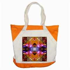 Abstract Flower Accent Tote Bag