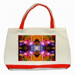 Abstract Flower Classic Tote Bag (Red)