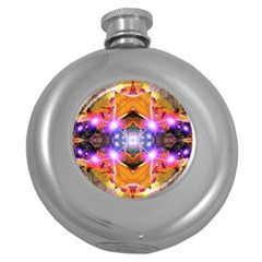 Abstract Flower Hip Flask (round)