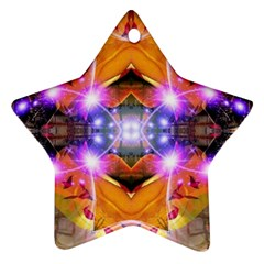 Abstract Flower Star Ornament (two Sides)