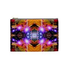 Abstract Flower Cosmetic Bag (medium)