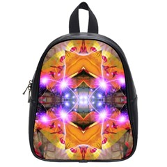 Abstract Flower School Bag (small)