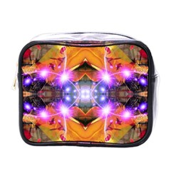 Abstract Flower Mini Travel Toiletry Bag (one Side)
