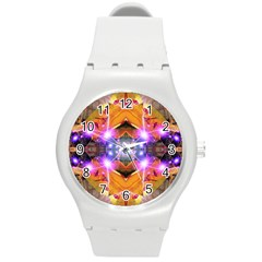 Abstract Flower Plastic Sport Watch (medium)