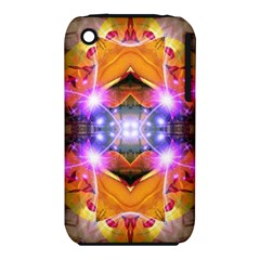 Abstract Flower Apple Iphone 3g/3gs Hardshell Case (pc+silicone)