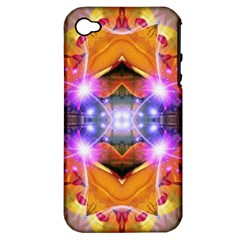 Abstract Flower Apple Iphone 4/4s Hardshell Case (pc+silicone)