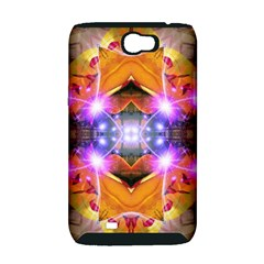 Abstract Flower Samsung Galaxy Note 2 Hardshell Case (PC+Silicone)