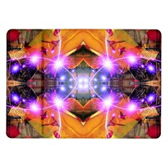 Abstract Flower Samsung Galaxy Tab 10.1  P7500 Flip Case