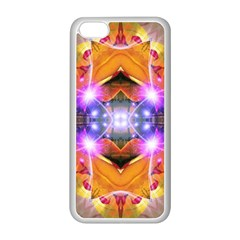 Abstract Flower Apple iPhone 5C Seamless Case (White)