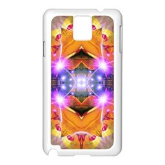 Abstract Flower Samsung Galaxy Note 3 N9005 Case (White)
