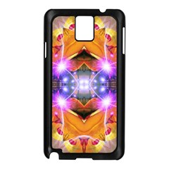 Abstract Flower Samsung Galaxy Note 3 N9005 Case (Black)