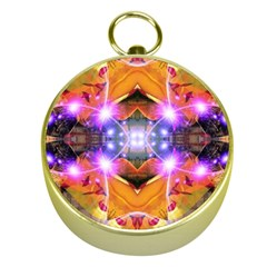 Abstract Flower Gold Compass