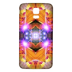 Abstract Flower Samsung Galaxy S5 Back Case (white)